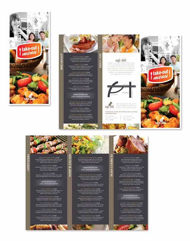Tri Fold Menu Template Free Best Of New Cafe Deli Take Out Tri Fold Menu Template