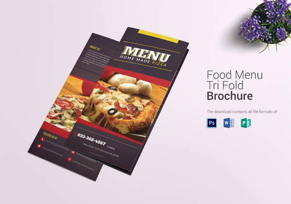 Tri Fold Menu Template Free Best Of Pizza Menu Templates – 31 Free Psd Eps Documents