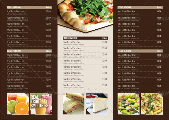 Tri Fold Menu Template Free Fresh 22 Tri Fold Menu Templates – Free Sample Example format