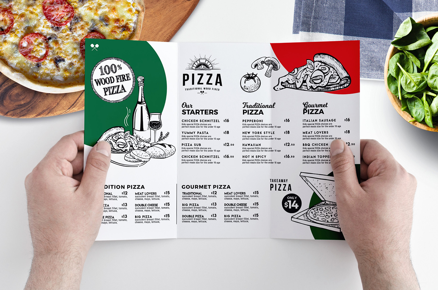 Tri Fold Menu Template Free Fresh Pizza Menu Templates In Psd Ai & Vector Brandpacks