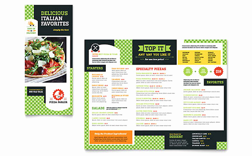 Tri Fold Menu Template Free Lovely Tri Fold Menu Templates & Designs