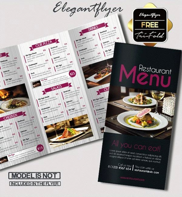 Tri Fold Menu Template Free Lovely What is the Best software for Restaurant Menu Designing
