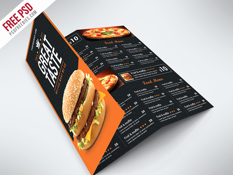Tri Fold Menu Template Free Luxury Freebie Fast Food Menu Trifold Brochure Free Psd by Psd