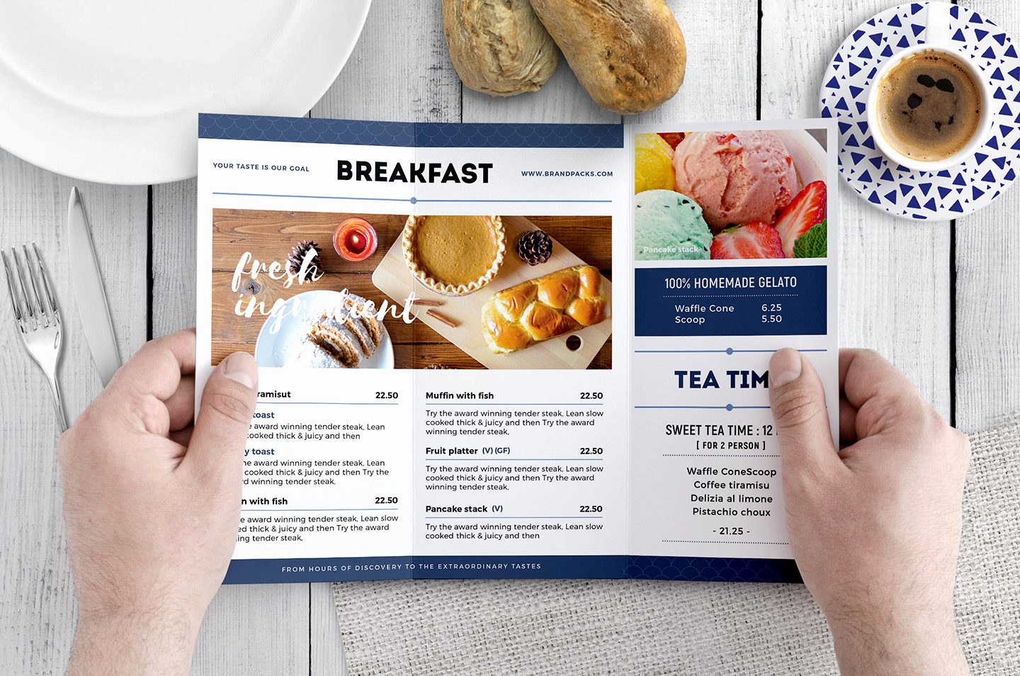 Tri Fold Menu Template Free Luxury Tri Fold Brunch Menu Template In Psd Ai & Vector Brandpacks