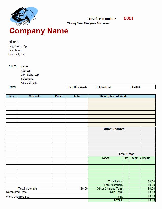 Truck Repair Invoice Template Best Of Mechanics Invoice