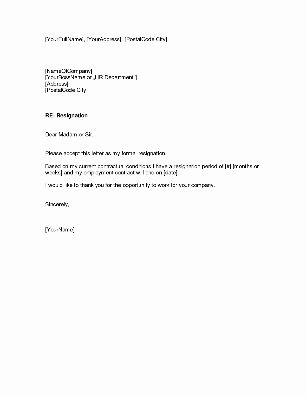 Two Weeks Notice Email Template Inspirational Resignation Letters Download Pdf Doc format