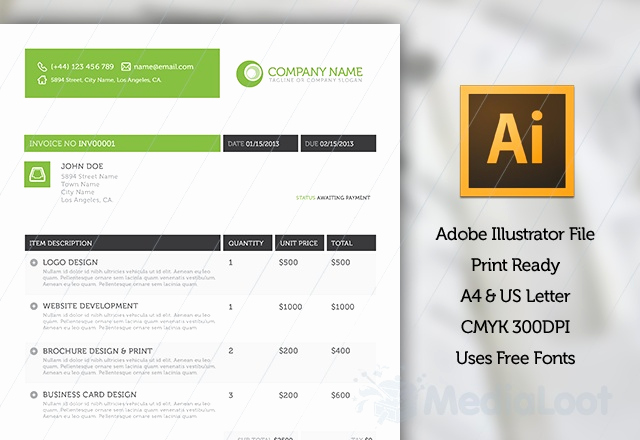Website Design Invoice Template Lovely Stylish Business Client Pack Web Templates