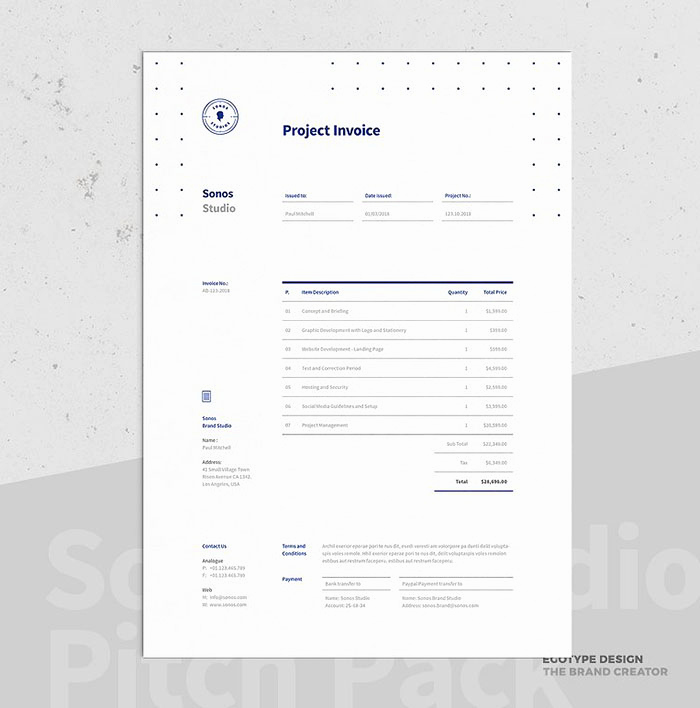 Website Design Invoice Template New 63 Invoice Design Templates 2020 Psd Word Excel Pdf