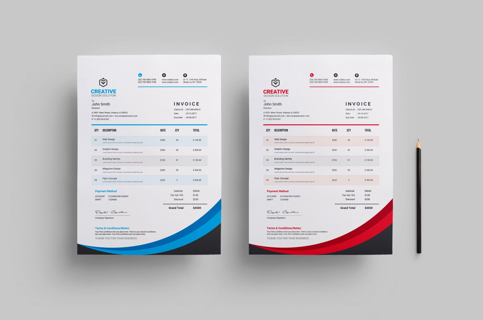 Website Design Invoice Template Unique Creative Stylish Invoice Design Template Catalog