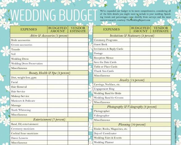 Wedding Budget Spreadsheet Template New Wedding Bud Template 16 Free Word Excel Pdf