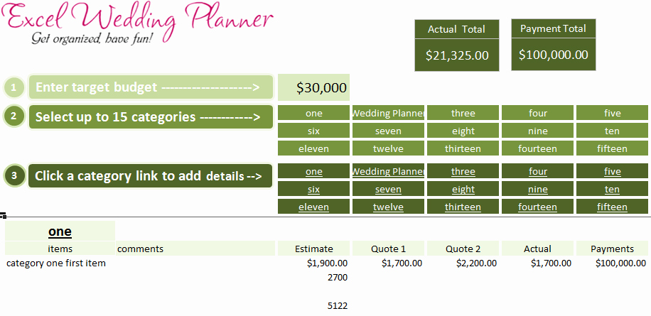 Wedding Budget Template Excel Beautiful Free Excel Wedding Planner Template Download today