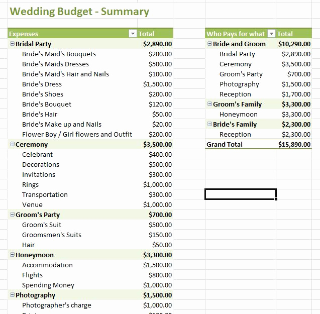 Wedding Budget Template Excel Elegant Wedding Bud Template Excel