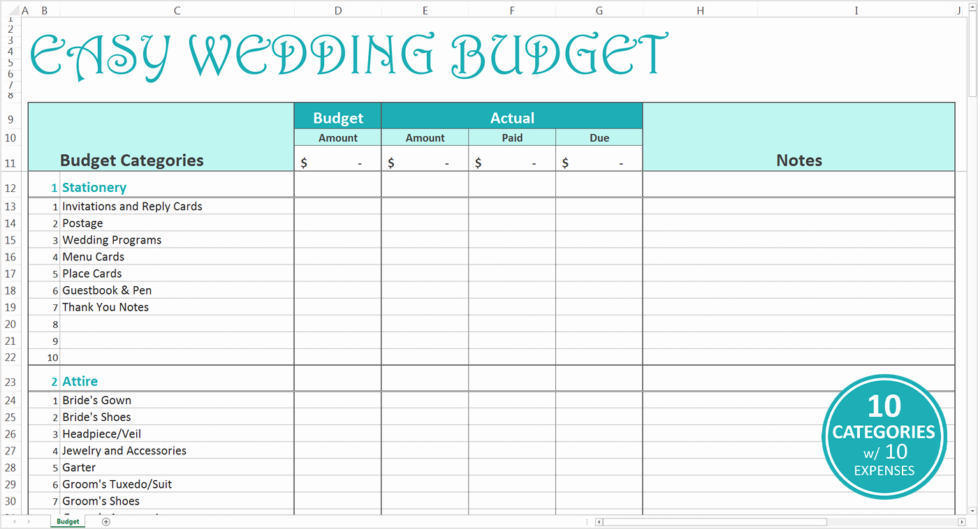 Wedding Budget Template Excel Luxury Wedding Cost Breakdown Spreadsheet Google Spreadshee