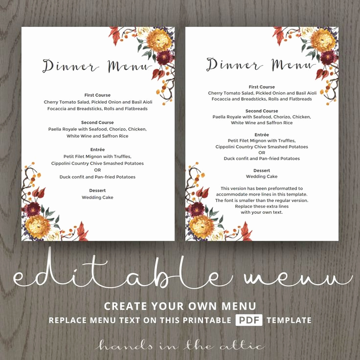 Wedding Buffet Menu Template Awesome 85 Best Wedding Menu Cards Images On Pinterest