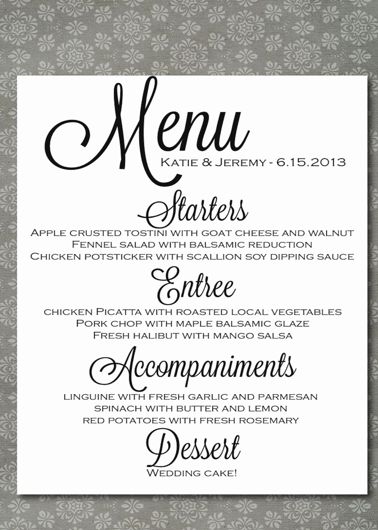Wedding Buffet Menu Template Best Of 131 Best Images About Jane S Wedding On Pinterest
