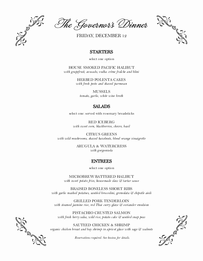Wedding Buffet Menu Template Fresh Catering Menu Templates that are Easy to Customize