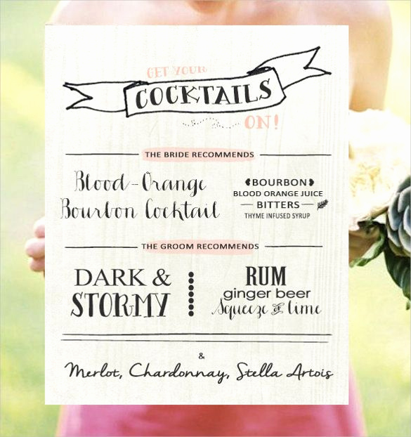 Wedding Drink Menu Template Best Of Drink Menu Template – 25 Free Psd Eps Documents Download