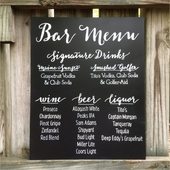Wedding Drink Menu Template Lovely Beer Menu Template – 14 Free Psd Eps Documents Download