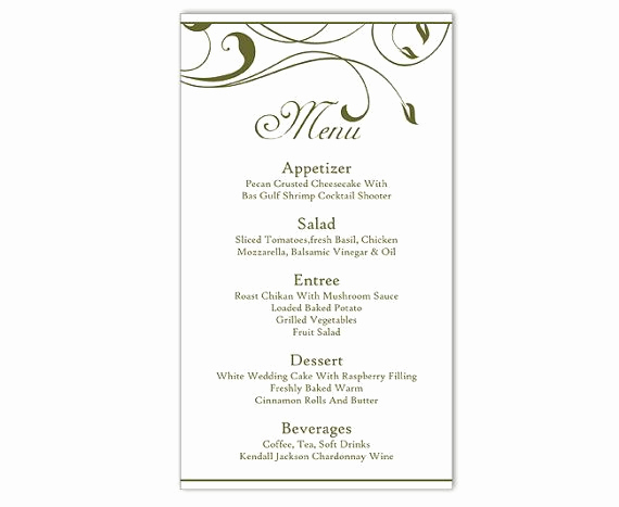Wedding Menu Template Free Download Awesome Wedding Menu Template Diy Menu Card Template Editable Text
