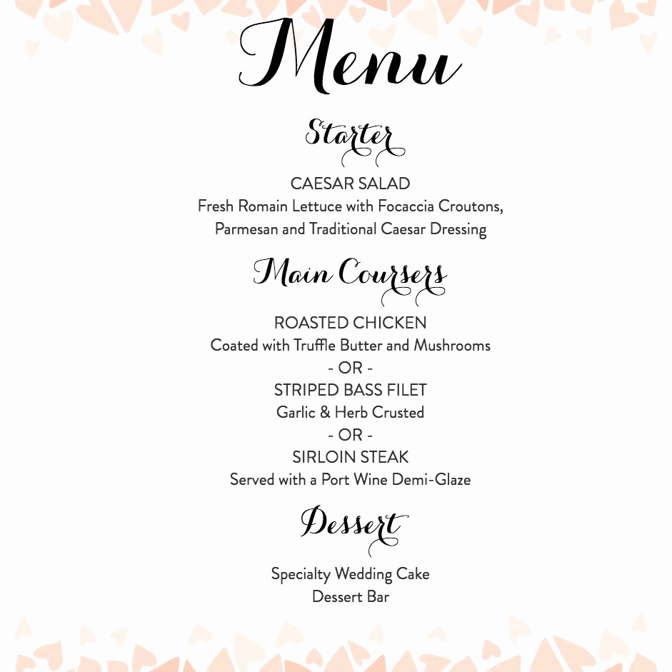 Wedding Menu Template Free Download Best Of Download A Free Wedding Menu Template