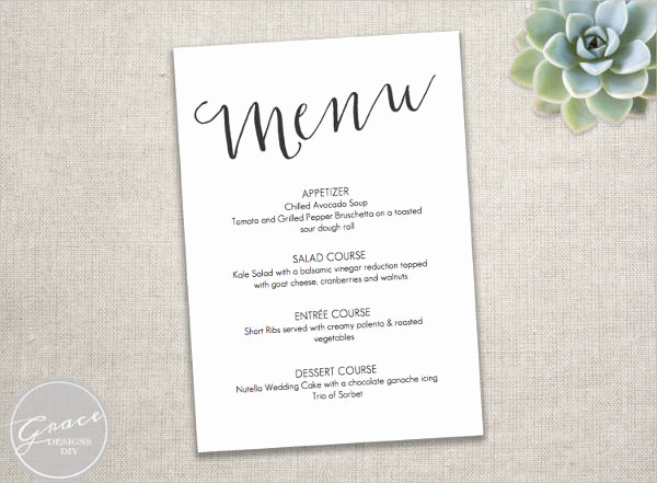Wedding Menu Template Free Download Fresh 23 event Menu Templates