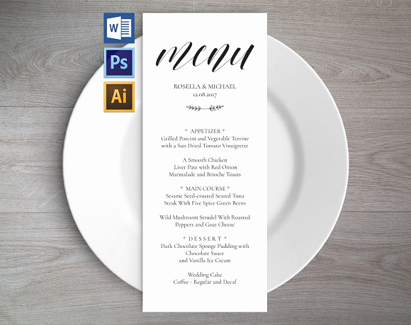 Wedding Menu Template Free Download Fresh Wedding Menu Template Wpc2 Invitation Templates