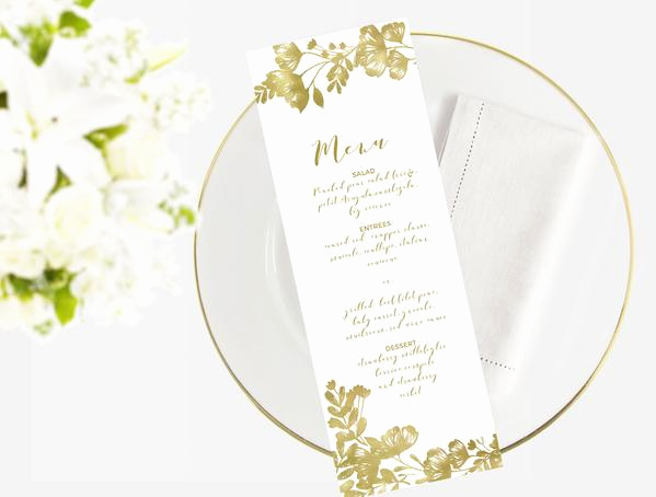 Wedding Menu Template Free Download Inspirational Wedding Menu Template Editable Word Template