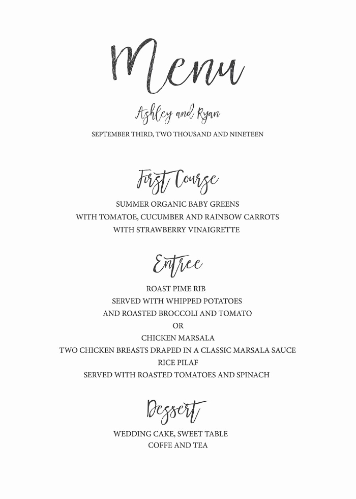 Wedding Menu Template Free Download Lovely Free Watercolor Editable Wedding Menu