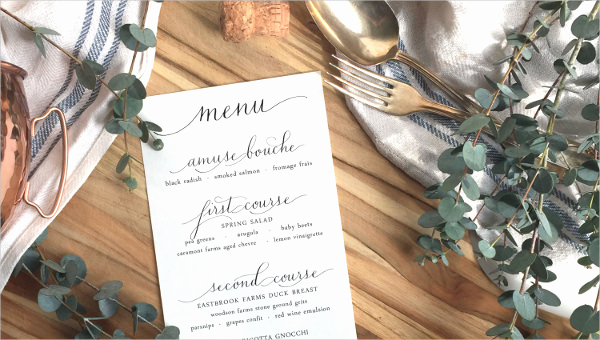Wedding Menu Template Free Download Luxury 36 Wedding Menu Templates Ai Psd Google Docs Apple