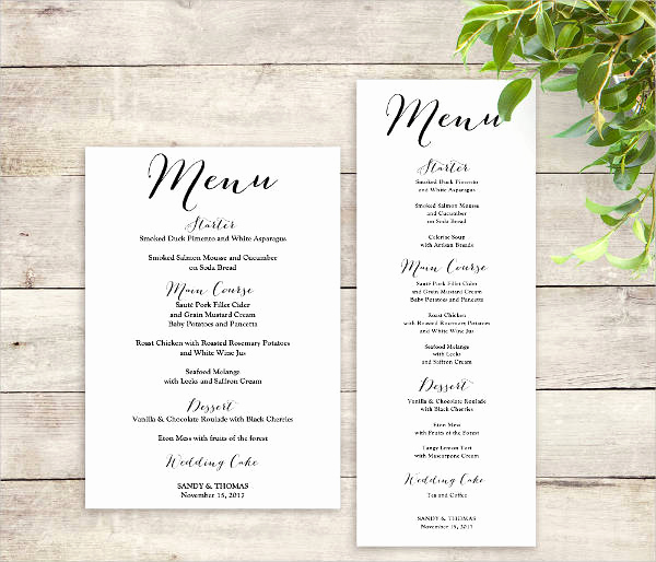 Wedding Menu Template Free Download Luxury Printable Menu Template 9 Free Psd Vector Ai Eps