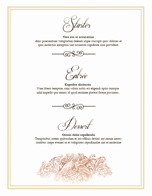 free wedding menu design photoshop templates