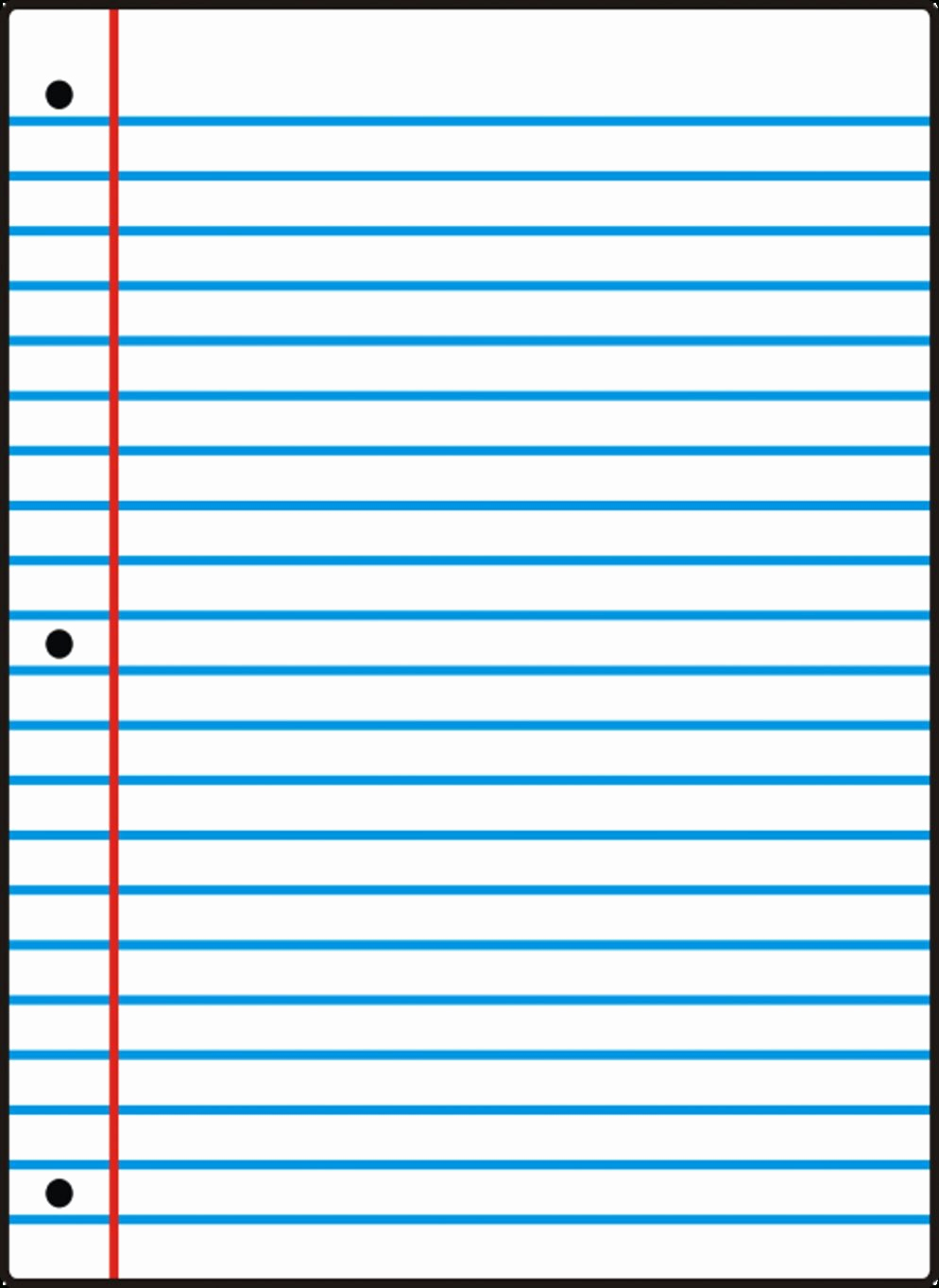 Wide Ruled Notebook Paper Template Best Of Free Printable Notebook Paper College & Wide Ruled