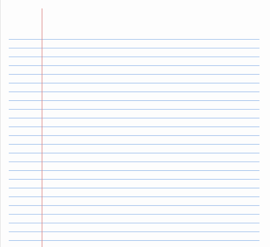 Wide Ruled Notebook Paper Template Unique Printable Lined Paper Exceltemplate