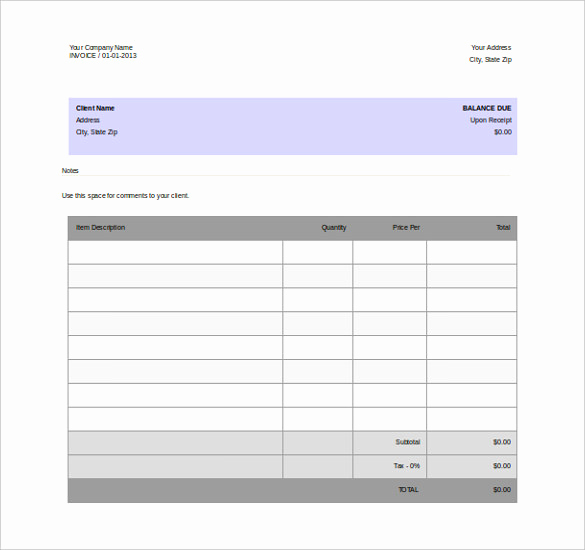 Word Document Invoice Template Best Of 11 Word Invoice Templates Free Download