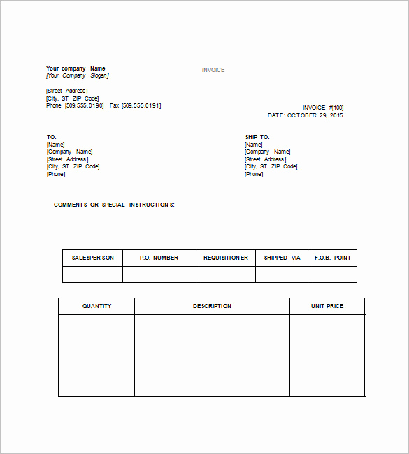 Word Document Invoice Template Elegant 14 Tax Invoice Templates Docs Pdf