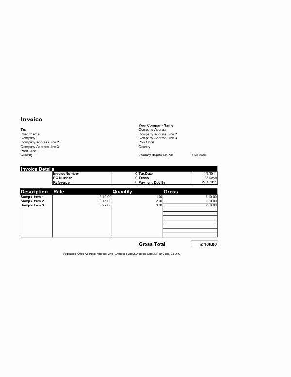 Word Invoice Template Free Luxury Free Invoice Templates for Word Excel Open Fice