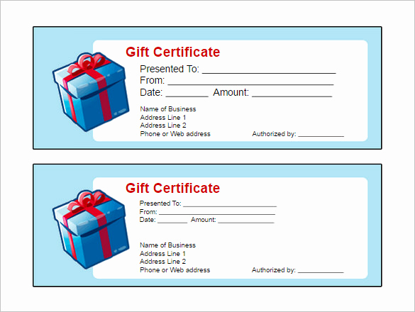 Word Template Gift Certificate Inspirational 16 Free Gift Certificate Templates & Examples Word