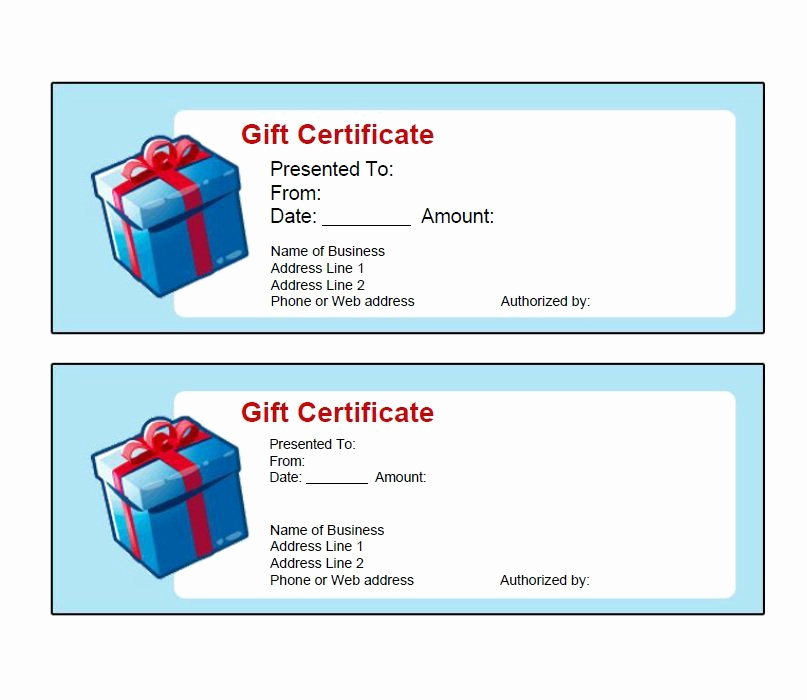 Word Template Gift Certificate New 31 Free Gift Certificate Templates Template Lab