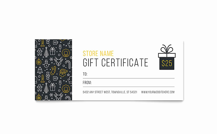 Word Template Gift Certificate Unique Christmas Wishes Gift Certificate Template Design