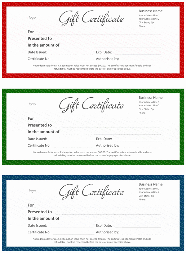 Word Template Gift Certificate Unique Ficial Gift Certificate Template for Word