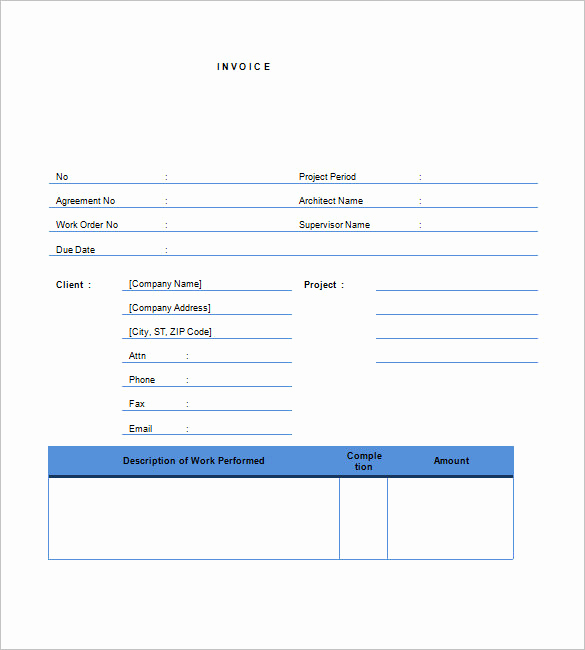 Work Invoice Template Word Lovely Contractor Invoice Templates 14 Free Word Excel Pdf