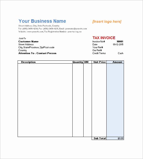 Work Invoice Template Word Unique Service Invoice Templates