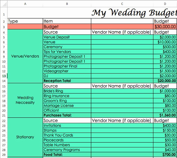 Zero Based Budget Template Elegant Wedding Bud Template Zero Based Bud Excel Download