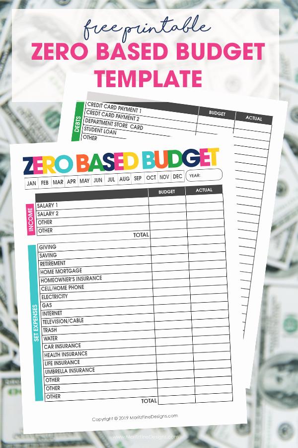 Zero Based Budget Template Elegant Zero Based Bud