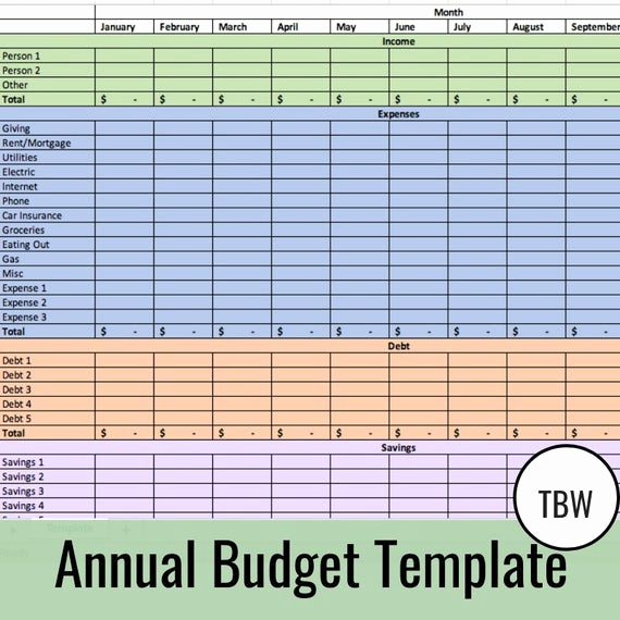 Zero Based Budget Template Fresh Annual Bud Template Zero Based Bud Excel Download