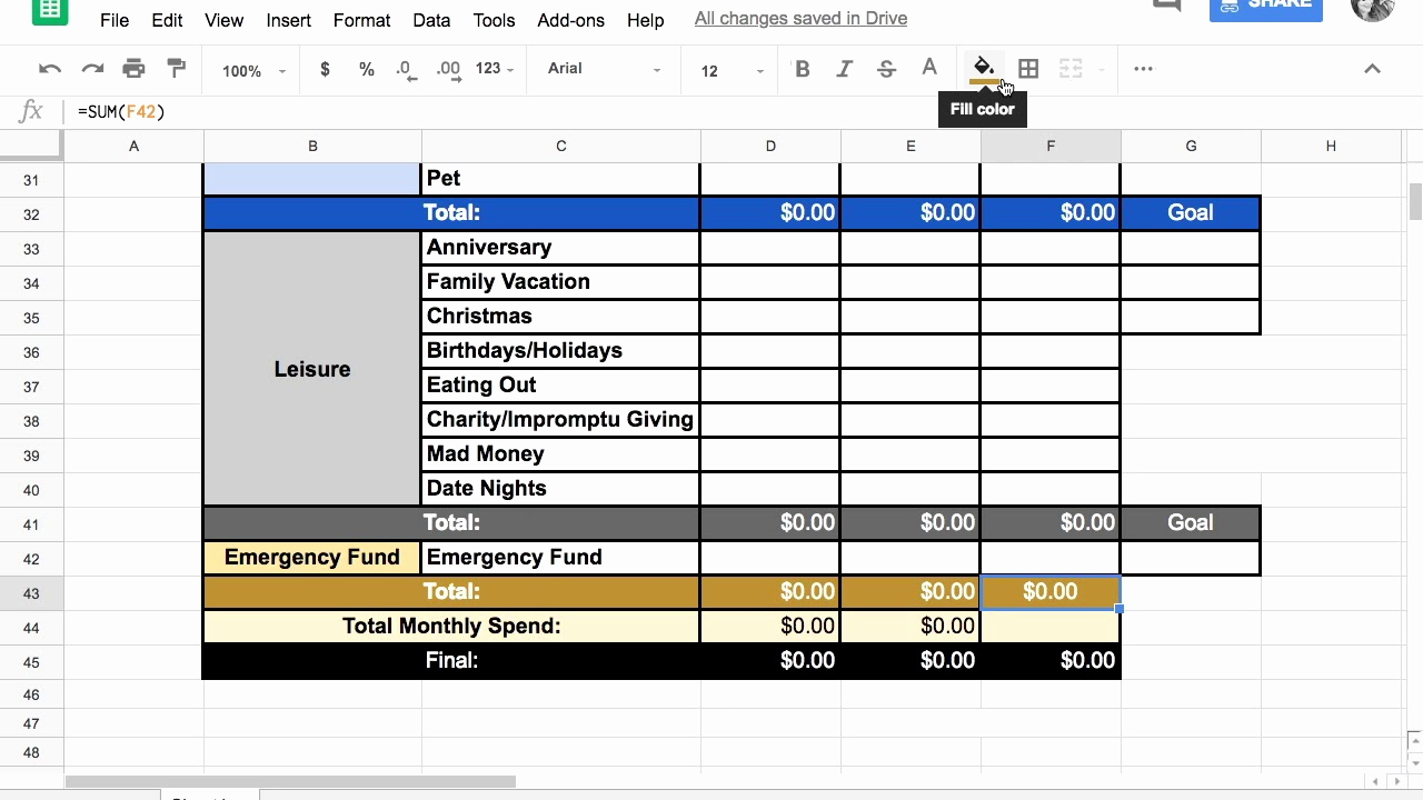 Zero Based Budget Template Inspirational Free Zero Based Bud Template Google Sheets