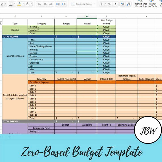 Zero Based Budgeting Template Luxury Monthly Bud Template Zero Based Bud
